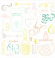 Romantic Doodle Bundle vector image vector image