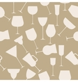 Seamless background pattern of alcoholic glass vector image vector image