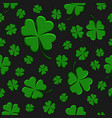 seamless pattern green clover leaf decorative on a vector image