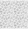 seamless pattern of kids toys baby background vector image