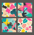 set colorful collage contemporary vector image