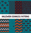 set of halloween background collection of vector image vector image