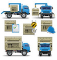 shipment icons set 7 vector image vector image