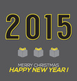 Simply and Clean 2015 New Year Card vector image vector image