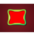 Smooth rectangular frame vector image vector image