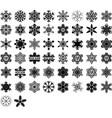 snowflakes and snowflakes monograms set winter vector image