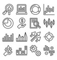 stock market trading icons set line style vector image vector image