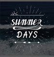 summer days hand written lettering vector image vector image