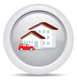 symbol icon dream luxury house and car business vector image vector image