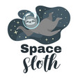 tshirt design with sloth vector image