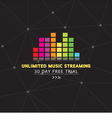 Unlimited Music Streaming vector image vector image