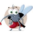 vampire mosquito cartoon vector image vector image