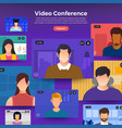 video conference 04 vector image vector image