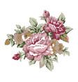vintage roses design element vector image vector image