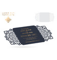 wedding card laser cut template vintage vector image vector image