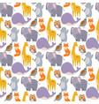 whale zoo animals seamless vector image vector image