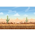 Wild West desert landscape cartoon seamless vector image vector image