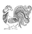 Zentangle stylized cock vector image