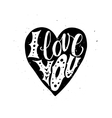 I Love you Typographic poster vector image