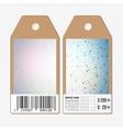 Tags design on both sides cardboard sale labels vector image