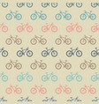 vintage colorful bicycle seamless pattern vector image