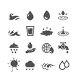 black water icons set vector image