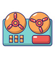 reel to reel tape recorder icon cartoon style vector image