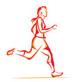 woman running vector image