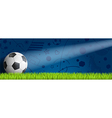 Header soccer on blue blackground vector image
