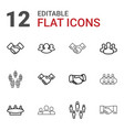 12 partnership icons vector image vector image