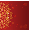 Abstract red background with mandala ornament vector image vector image