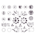Astrology esoteric icons vector image vector image