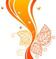 back doodle floral orangered vector image