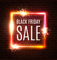 black friday banner seasonal sale design template vector image