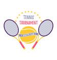 bright tennis design logo icon designprint badge vector image vector image