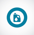 car oil icon bold blue circle border vector image