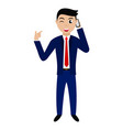 cartoon businessman character vector image
