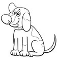 cartoon spotted puppy character coloring book page vector image vector image