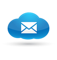 Cloud Computing Mail Icon vector image vector image