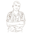 Contour of elegant young man weared in a shirt vector image vector image