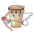 cupid conga character cartoon style vector image