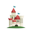 cute medieval complex castle from stones with long vector image vector image