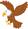 eagle flying vector image vector image