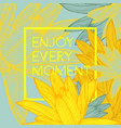 enjoy every moment quote floral background vector image