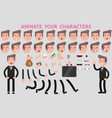 flat guy character for your scenes vector image vector image