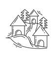 gardening village icon hand drawn icon outline vector image