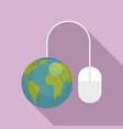 global web banking icon flat style vector image