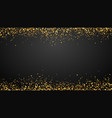 golden confetti border background falling vector image vector image