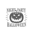 halloween day logotype vector image