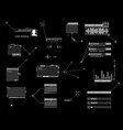 hud callout ui design elements futuristic callout vector image